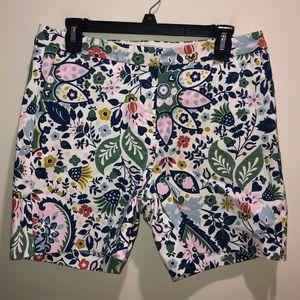 Boden Sz 8 Cotton Floral Shorts Paisley Print New